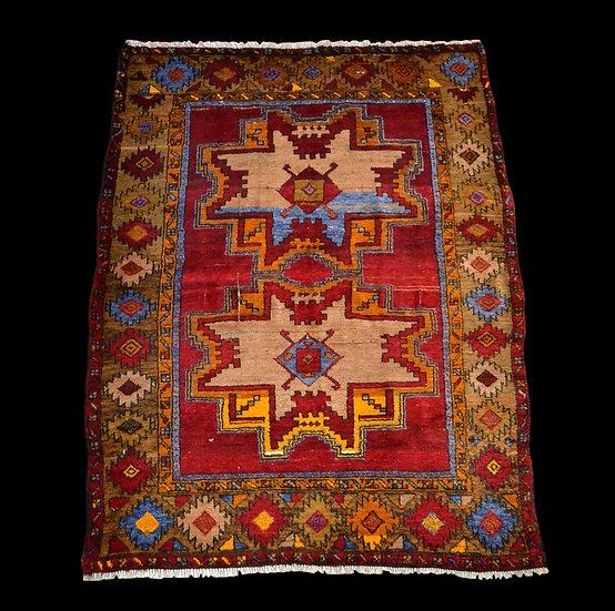 Tapis Sivas ancien d'Anatolie, 136 cm x 174 cm, laine sur laine, avant 1950