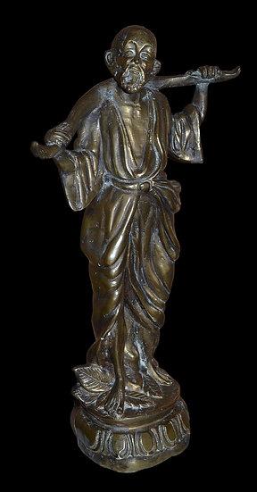 """""""Grand Bronze d'Un Porteur d'Eau, Asie, Première Partie De XXème Siècle"""""""