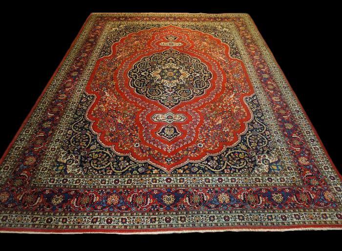 Tapis Persan Ispahan, Iran, 310 cm x 396 cm, Laine Kork, vers 1970