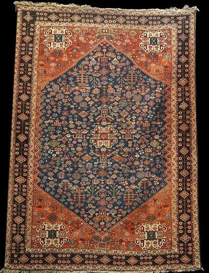 TAPIS SHIRAZ Ancien, Iran, XIXème siècle