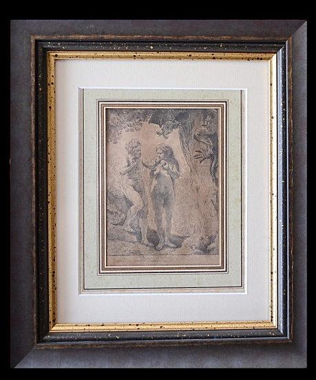 Rembrandt HARMENSZ VAN RIJN (1606-1669) - Adam et Eve - Basson XIX ème siècle