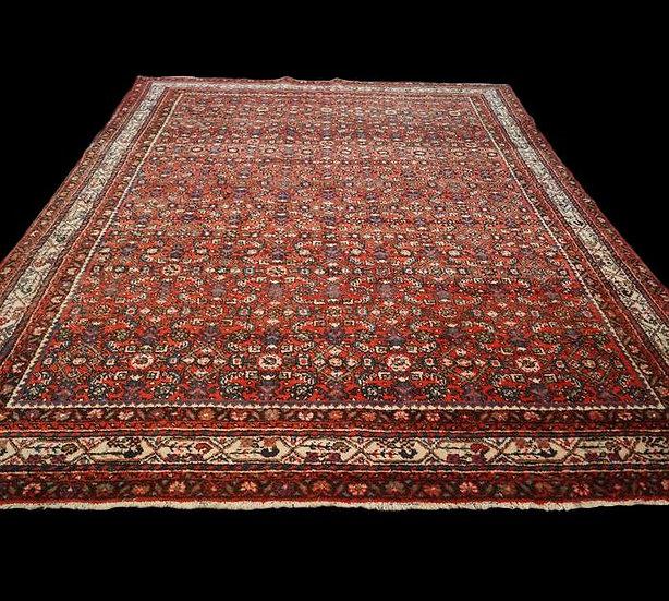Tapis Persan Macchad, décor Khorassan, 235 cm x 312 cm, Iran, Laine nouée main,