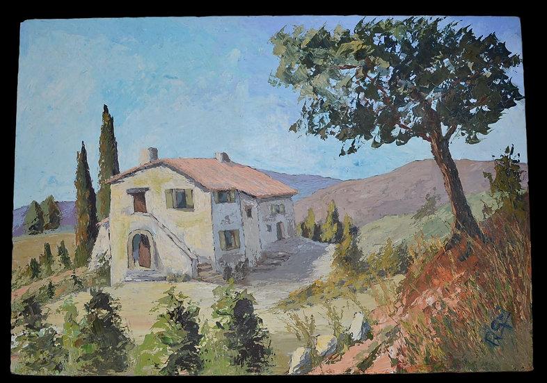 GRI R.  ,  La Maison dans la Garrigue , circa 1970