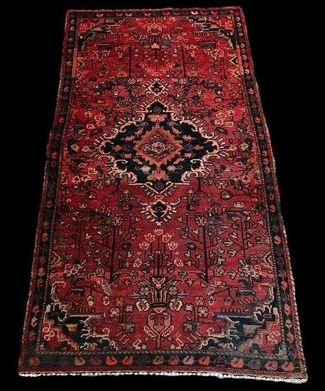 Tapis Persan Malayer, Iran, 103 cm x 188 cm, Noué Main, fin du XIXème siècle