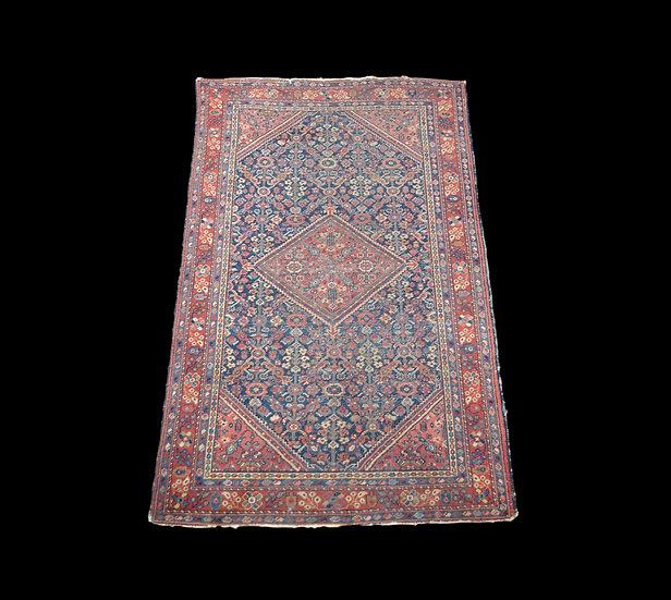 Tapis Persan Mahal ancien, Iran, 131 cm x 197 cm, Laine nouée main, début du XXè