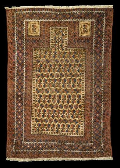 Tapis Beloutche ancien, 98 cm x 143 cm, début du XXéme siècle