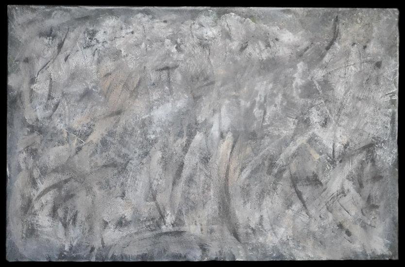 "Erwin STEINBACH "" Givre du matin "" Mars 2020, 75 x 115 cm"