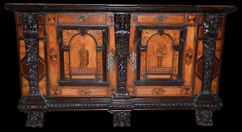 BUFFET BAS EN MARQUETERIE, Pays-Bas , Milieu du XVII ème siècle