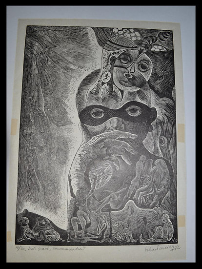 "Hilda VAN NORDEN (1922 - 2017) , ""Communication ?"" , circa 1972"