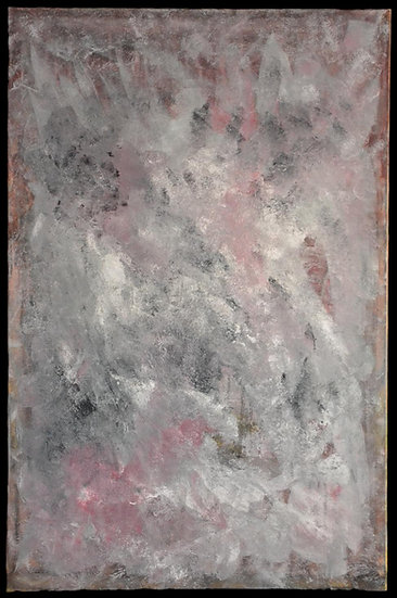 "Erwin STEINBACH "" Les herbes folles roses "" Janvier 2020, 115 x 75 cm"