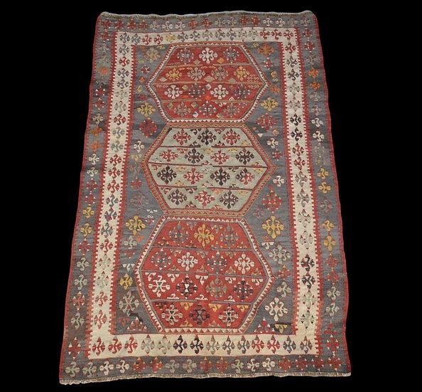 Kilim Ancien, Anatolie, 126 cm x 190 cm, laine, milieu du XXème Siècle