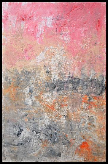 "Erwin STEINBACH "" Coucher de soleil ""115 x 75 cm - Octobre 2020"