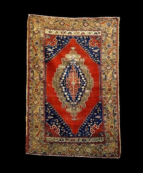 Tapis kutaya ancien, Anatolie, Turquie, 111 cm x 165 cm, fin du XIXème siècle