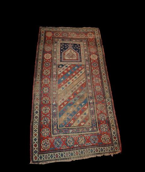 Tapis Daghestan ancien, Caucase, 84 cm x 154 cm, XIXème siècle
