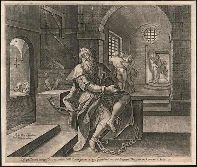DE VOS Martin (1532 - 1603) - Manasseh Dans Un Donjon - Circa 1585
