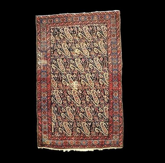 Tapis Persan Senneh, 117 cm x 187 cm, décor de Boteh, laine fin du XIXème siècle