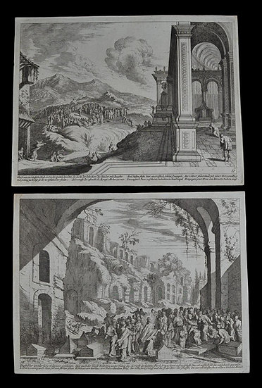 Melchior KÜSEL (1626-1683) - Paire De Gravures de 1670