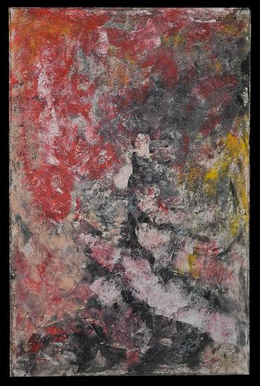 """Erwin STEINBACH """" L' arbre rouge """" Novembre 2020, 115 x 75 cm"""