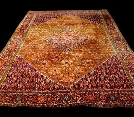 Tapis Persan Bidjar, 220 cm x 332 cm, laine nouée main en Iran, très bon état, 1