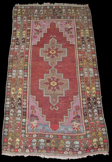 Tapis Yürük De Prière Ancien, 122 cm x 224 cm, Turquie, Début Du XXème Siècle
