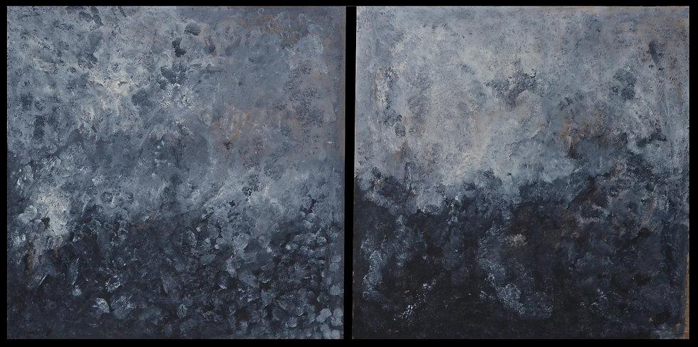 """Erwin STEINBACH """"Ciel d'orage """" Diptyque, 90 x 90, 2019"""