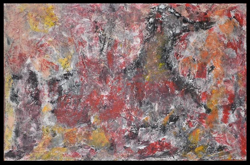 """Erwin STEINBACH """" La cane dans le sous bois"""" 75 x 115 cm - 2020"""
