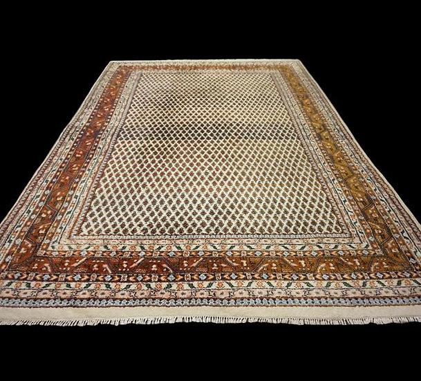 Tapis persan sarough mir, 250 cm x 345 cm, laine nouée main, 1980