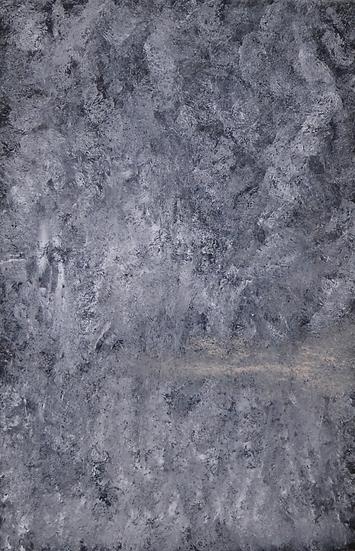 """Erwin STEINBACH """" L'étang du Revest """" 75 x 115 , technique mixte sur toile, 2010"""