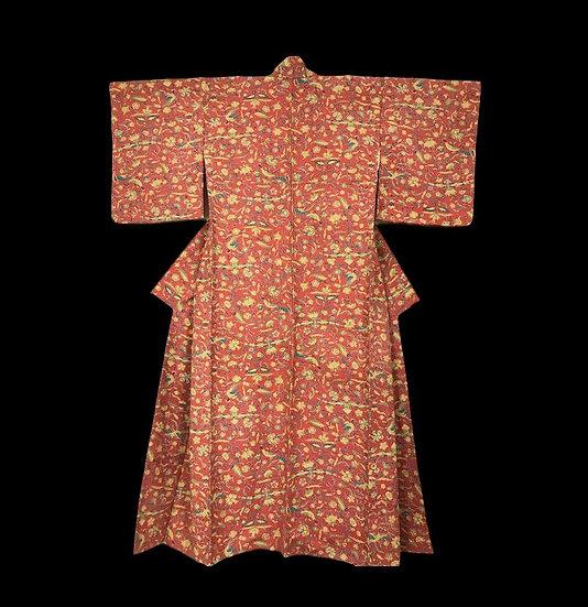 Kimono Tsumugi pour Femme en soie, Japon, 1960, Très bon état