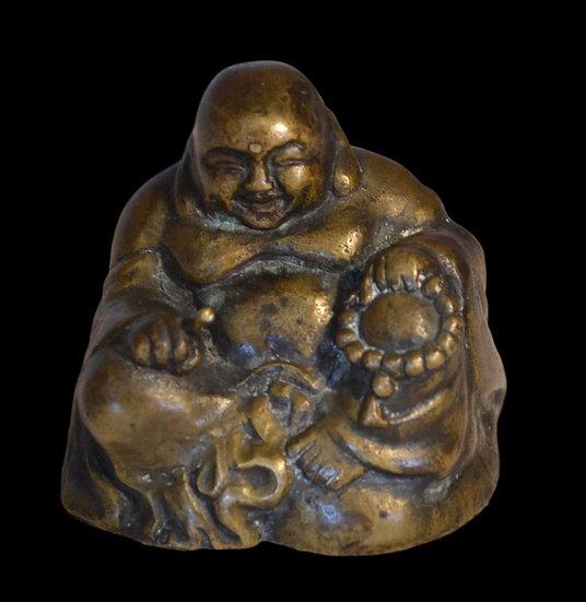 Bouddha Rieur En Bronze , Chine, XIXème Siècle