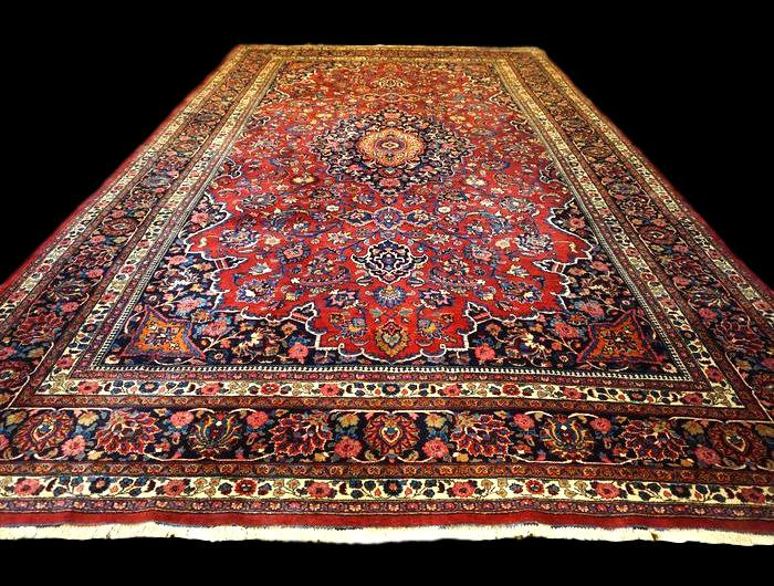 Tapis Persan Kashan Royal, 310 cm x 506 cm, Iran, Laine Kork, vers 1930