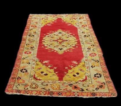 Tapis d'Anatolie ancien, 98 cm x 190 cm, laine sur laine, avant 1950