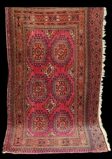 Tapis Turkmène Salor, 88 cm x 157 cm, Turkestan Occidental, début du XXème