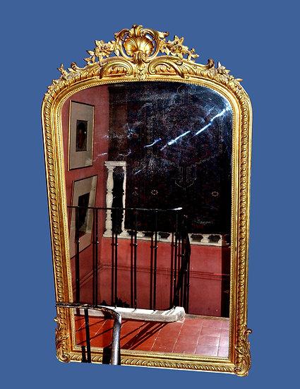 Miroir Napoléon III, France, époque XIXème siècle vers 1890