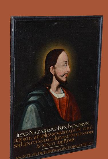 Christ Roi des Juifs - Huile sur toile - XVII ème siècle