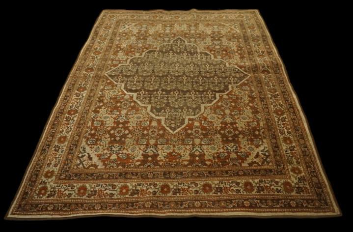 """Tapis persan tabriz""""Hadj Djalili"""" 123 cm x 183 cm, XIXème siècle"""