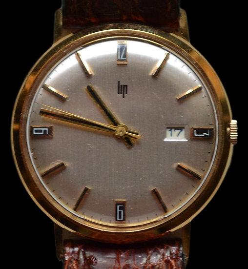 Montre bracelet homme LIP en Or 18 carat vers 1960