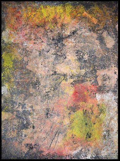 Erwin STEINBACH  » Schwarz  » technique mixte, 80 x 60 cm, 2020