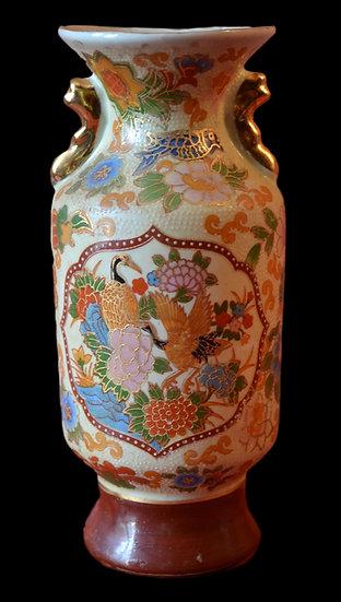 Vase cloisonné, Japon à décor de grues, vers 1900