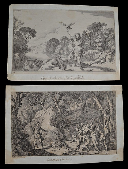 Johann Wilhelm BAUR  (1607-1640) gravures en paire , édition 1641