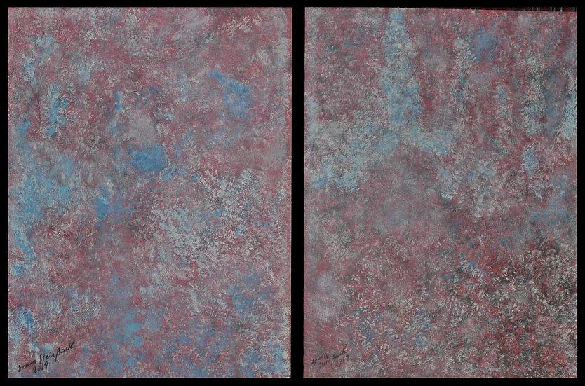 "Erwin STEINBACH, "" Rosée du matin "" Diptyque 80 x 60, Circa 2019"