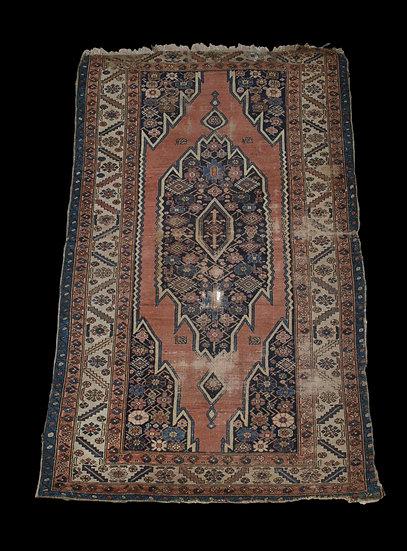 Tapis Persan Maslaghan Ancien, 124 cm x 198 cm, Iran, Laine nouée main, XIXème S
