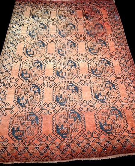 """Tapis """" Turkmènes """", Asie Centrale, 263 cm x 365 cm, laine sur laine, avant 1950"""