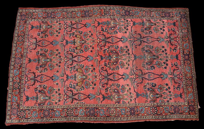 TAPIS PERSAN BIDJAR Ancien, 133 cm x 208 cm, Iran, 1900 - 1920