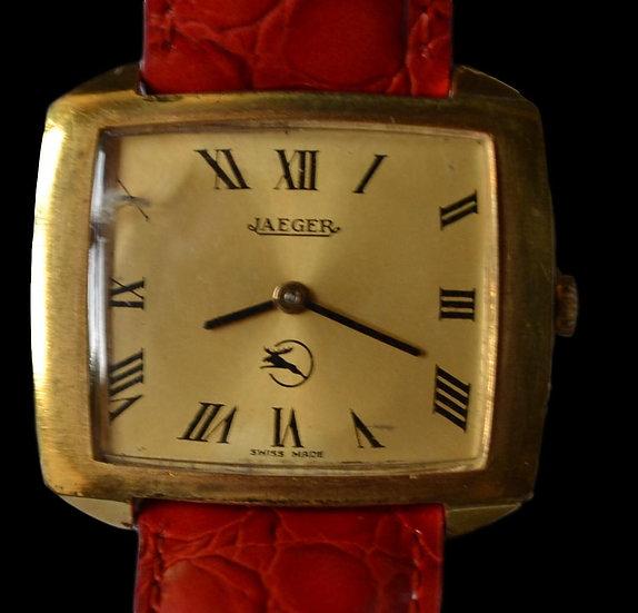 Montre Bracelet Homme JAEGER - Plaqué Or - Vers 1970