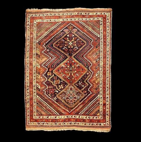Tapis Afshar ancien, 139 cm x 182 cm, laine sur laine, début du XXème siècle