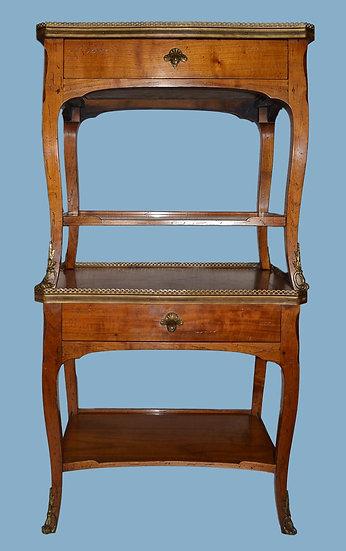PAIRE DE TABLES VOLANTES , Style Louis XV , Circa 1890-1900