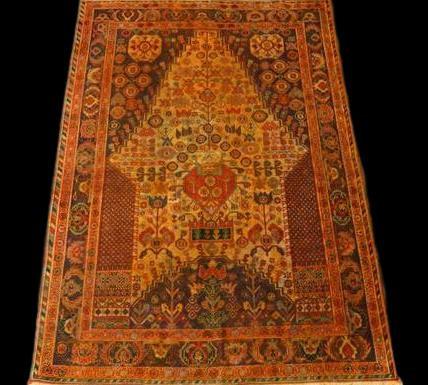 Tapis Persan Yezd, 102 cm x 150 cm, Iran, laine nouée main, vers 1970