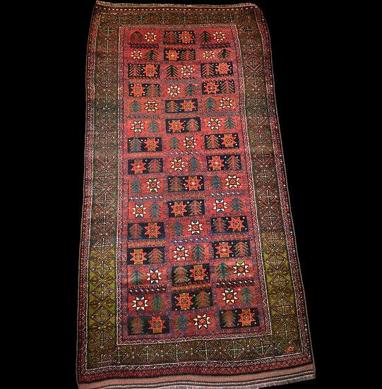 Tapis Mauri, 117 cm x 236 cm, Afghanistan, laine sur laine, vers 1960