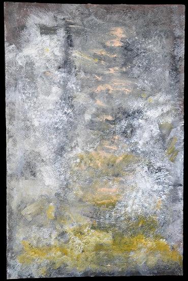 """Erwin STEINBACH ( 1964 - ) """"Le chaume """" 115 x 75 cm, 2020"""